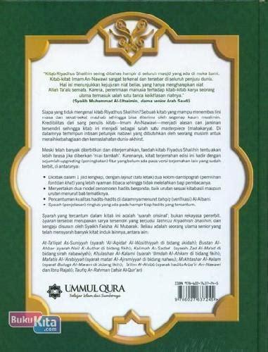 Buku Original Riyadhus Shalihin Penjelasannya Imam An Nawawi bukukita riyadhus shalihin dan penjelasannya