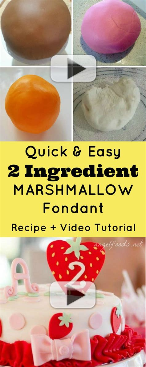 quick and easy 2 ingredient marshmallow fondant recipe
