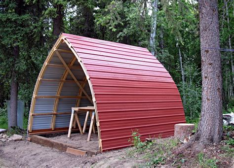 awesome bow roof shed  yard ideas