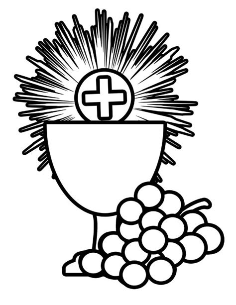 catholic coloring pages eucharist eucharistic symbols clip art clipart best
