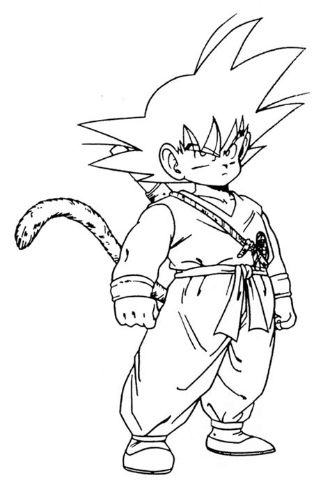 Son Goku Kid Coloring Pages Cartoon Dragon Ball Kid Goku Coloring Pages