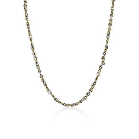 Two Tone Necklace 14k two tone gold chain necklace boca raton