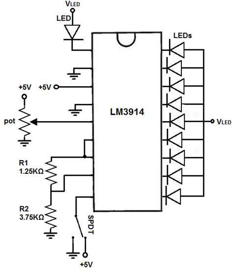 led bar graph resistors how to build an lm3914 dot bar display driver circuit