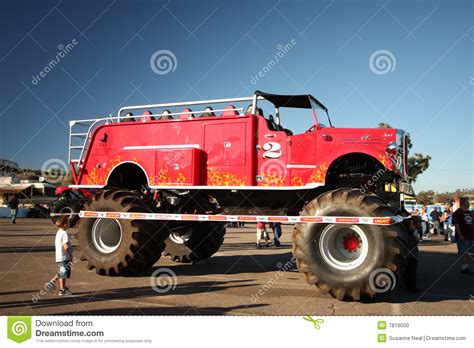 monster truck show san diego monster fire truck editorial image image 7816000
