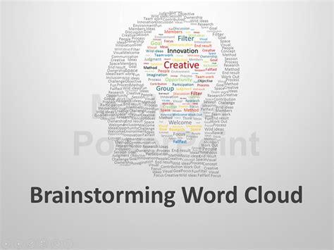 Brainstorming Word Cloud Editable Powerpoint Presentation Brainstorming Ppt