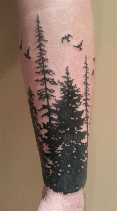 pine tree tattoo pictures of my work 2014 present canada and usa the