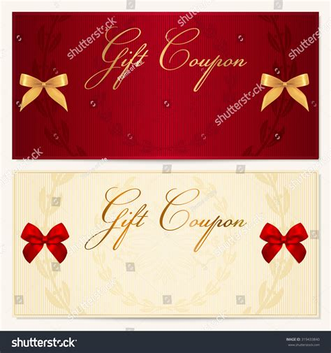 On The Border Gift Card Bonus - gift certificate coupon voucher gift money bonus or gift card template with scroll