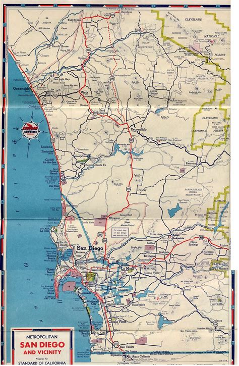 map of san diego county california u s 395 san diego original routes
