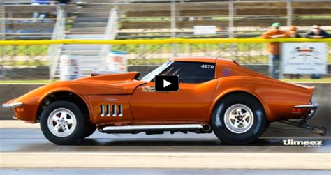 Corvette Drag Racing by Wow Diesel Powered 1968 Corvette Drag Racing Cars