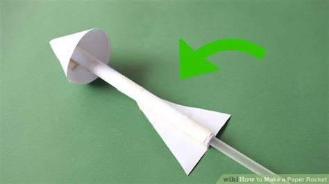 How To Make A Paper Rocket Fly - 4 easy ways to make a paper rocket wikihow