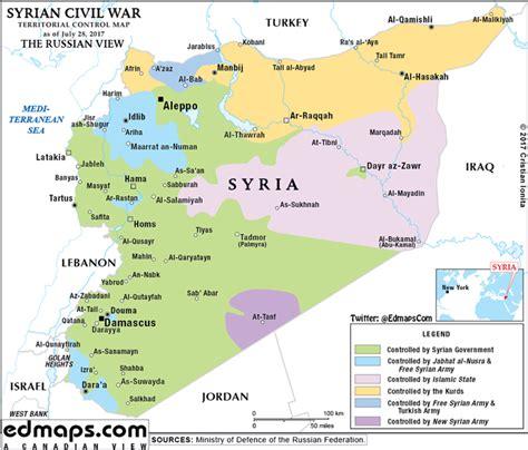 syria map syrian civil war in maps