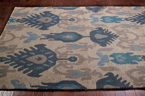 grey ikat rug new transitional blue beige grey ikat ve03 area rug carpet hooked wool