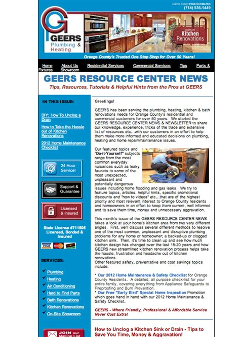 january newsletter geers plumbing heating geers