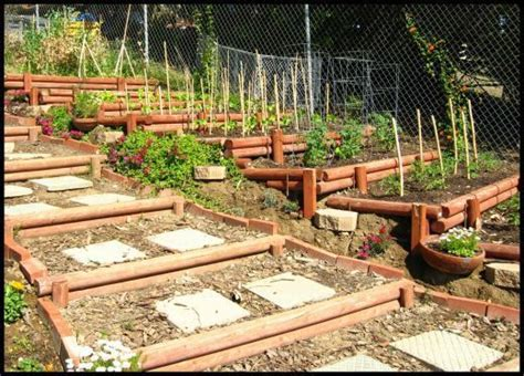 Using Landscape Timbers For Vegetable Garden 72 Best Images About Steps Up A Slope On