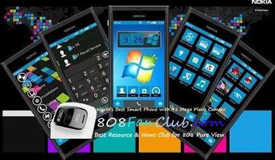 iphone themes for lumia lumia blue theme nokia n8 symbian belle free theme