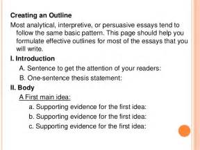 How To Write An Outline For An Essay by Creating An Outline