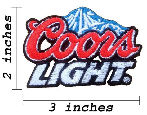 Emblem Logo Tulisan Agya Original Emb 117 coors light iron on patches embroidered patch by noieasyshop