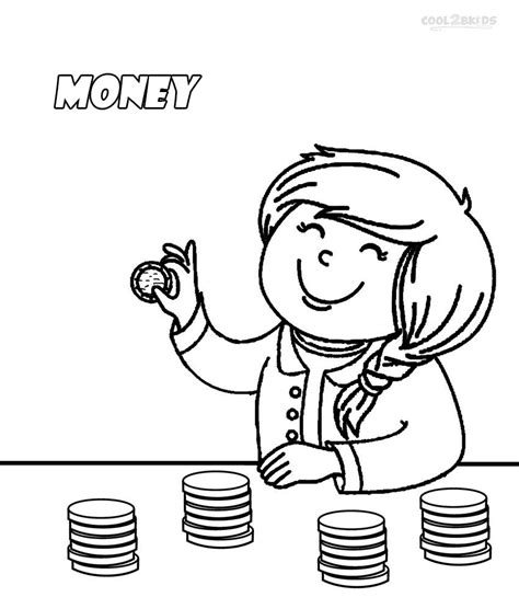 free coloring pages of money