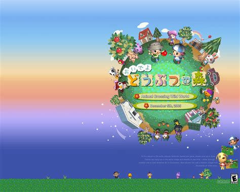 animal crossing wild world wallpaper gallery