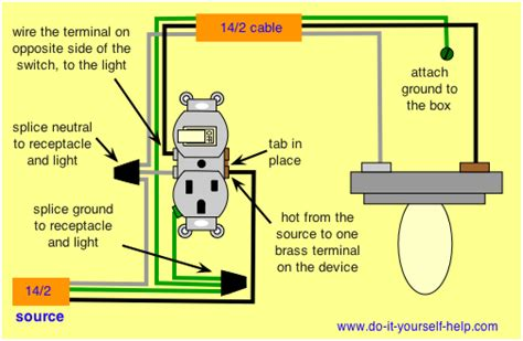 wiring a switch and outlet combo 28 images combination