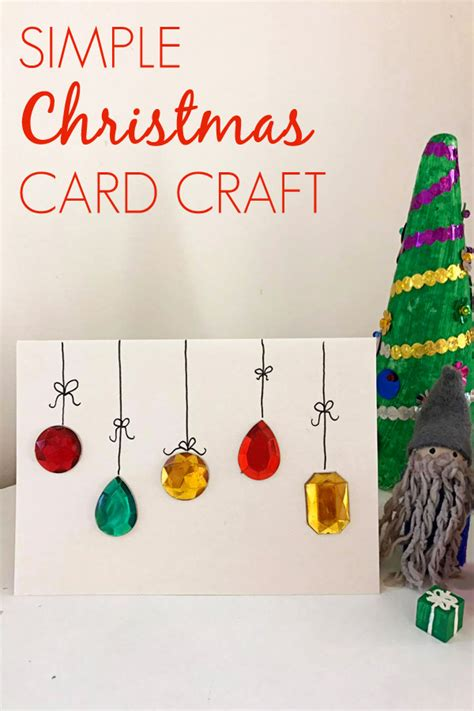 easy diy christmas card craft childhood101