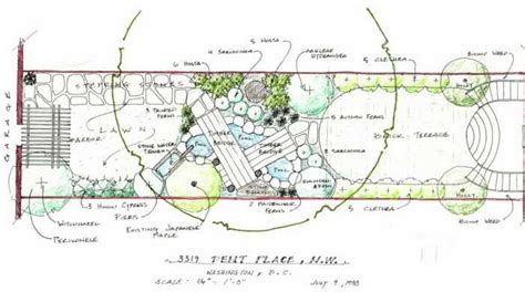 land layout sketch how to draw landscape design plot plans google search