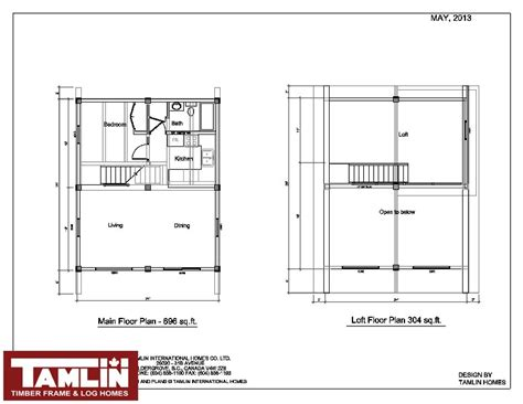 12x12 House Plans Post Beam Log Cabin Special Tamlin Homes Timber Frame Home Packages