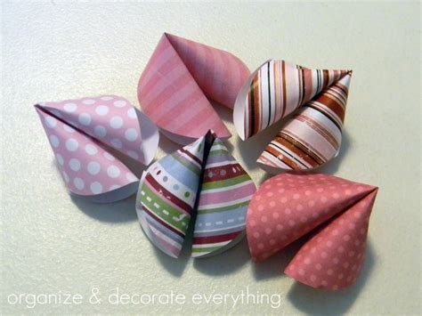 Paper Fortune Cookies - paper fortune cookies organize and decorate everything