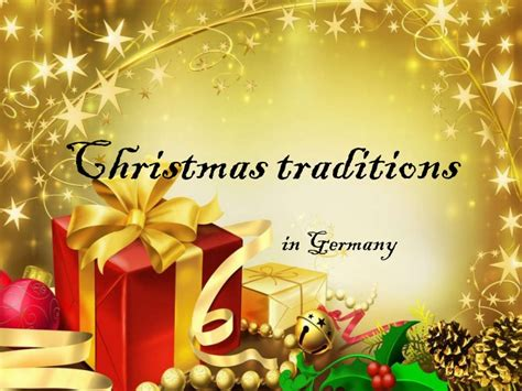 what is christmas called traditions in germany