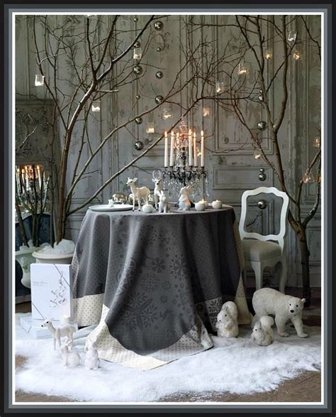 elagant christmas table tops in white theme white table decor