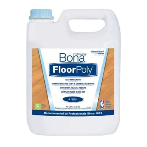 bona 1 gal satin floor finish water based floorpoly