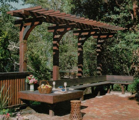 Overhang Pergola Nice Seating Area Repinned By Small Backyard Pergola Ideas