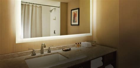 bathroom mirror with built in light seura lighted mirrors serious audio video
