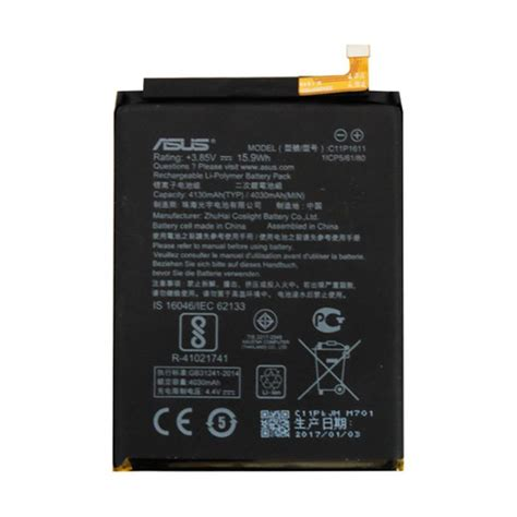 Asus Original Battery For Asus Zenfone 5 Baterai Battery Original 1 jual asus original c11p1611 battery for asus zenfone 3 max zc520kl 5 2 inch black