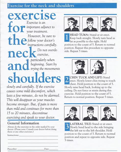 exercise program neck office