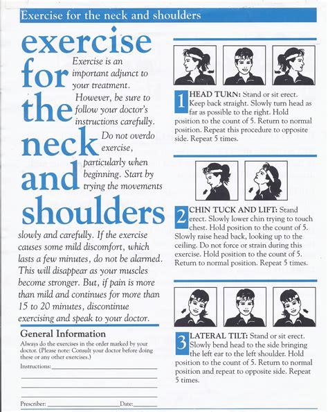 exercise program neck office