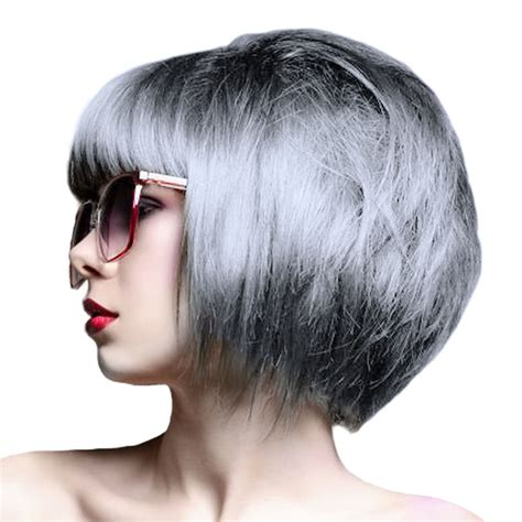 pictures of grey hairstyles with permanent crazy color semi permanent hair dye 100ml silver