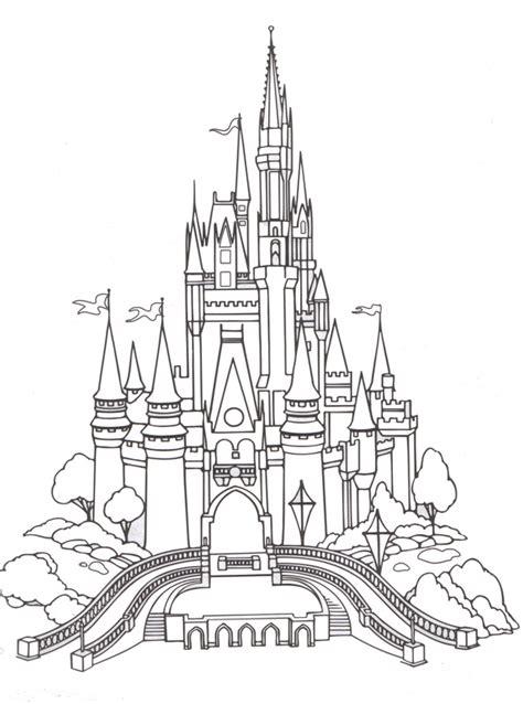 Cinderella Castle Coloring Page cinderella coloring pages