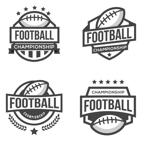 edit football logo four logos for football vector free