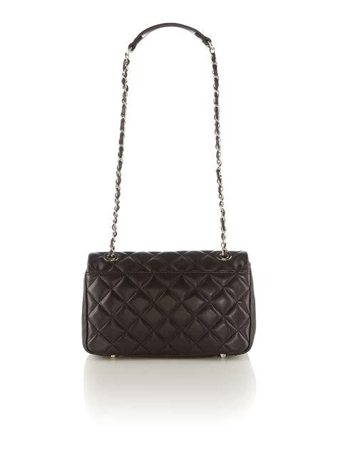 8103 Black Shoulder Bag dkny quilted black large flap shoulder bag in black lyst