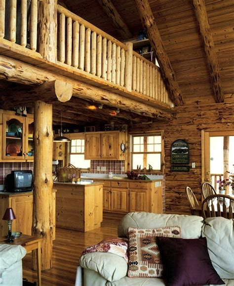 log homes interiors adirondack country log homes
