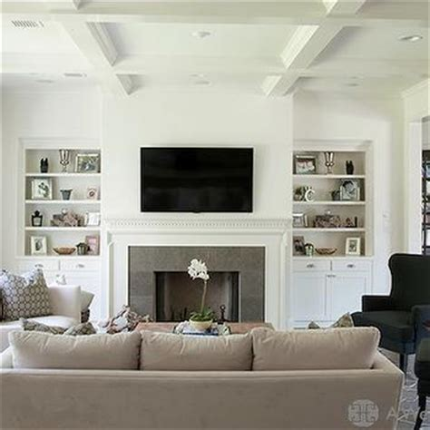 Home Design Story Jeux fireplace tv niche contemporary living room
