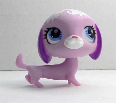 lps wiener dogs littlest pet shop dachshund 3004 pink purple