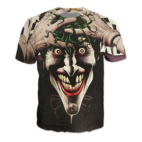 New Kaos 3d Joker 12 batman joker dc comics 3d print t shirt summer style t shirt homme harley