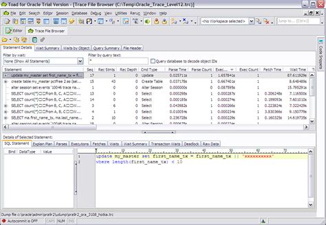 toad tutorial for oracle toad and trace file browser toad for oracle unleashed book