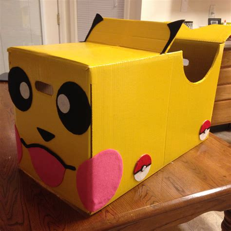 box car pokemon pikachu cardboard box car peyton pinterest