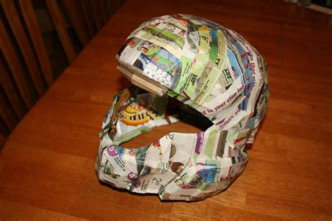 How To Make A Paper Halo Helmet - make a paper mache helmet images