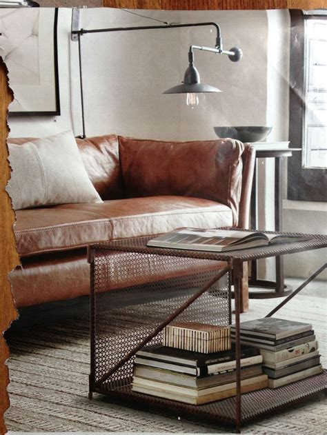 restoration hardware leather couch leather couch restoration hardware home pinterest