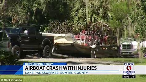 airboat crash lake panasoffkee airboat crash leaves 14 injured daily