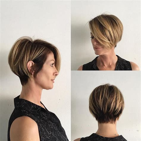 face framing bob short stacked in the back stacked bob with long face framing bangs for african